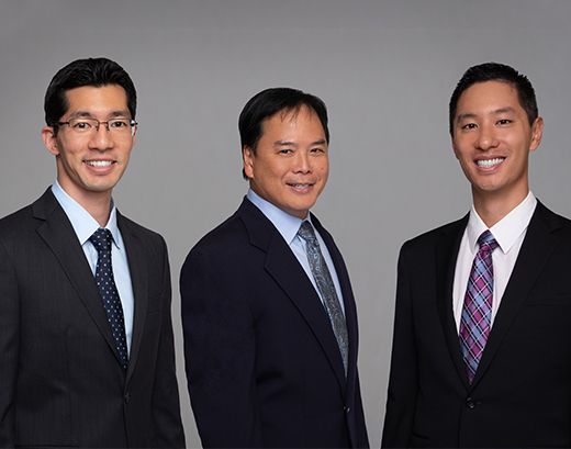 Dr. Todd K. Haruki, Dr. Neil Oishi and Dr. Mitchell P. Loo at Pacific Maxillofacial Center